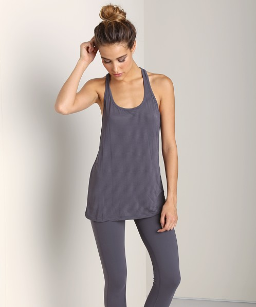 Beyond Yoga Twistback Racerback Tank Steel Stripe