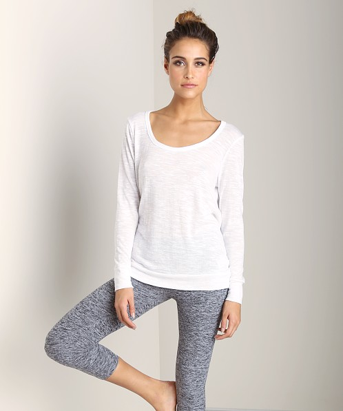 Beyond Yoga Surplice Back Pullover White