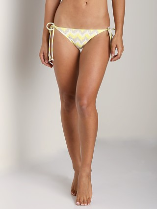 Model in citrus glow/jute Eberjey Painted Spirit Kate Bikini Bottom