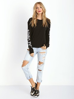 WILDFOX European Traveler Walk of Shame Tee Clean Black