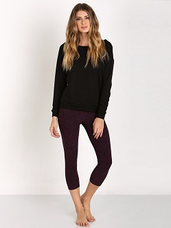 Beyond Yoga Relaxed Long Sleeve Pullover Black