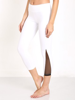 Beyond Yoga Side Mesh Triangle Capri White