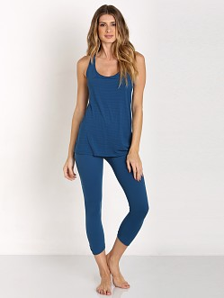 Beyond Yoga Split Racer Tank Mosaic Blue