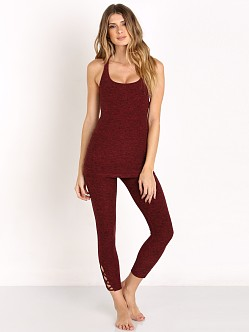 Beyond Yoga Space Dye Cut Out Cami Black/Garnet Red