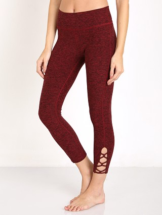 Beyond Yoga Space Dye Interloop Legging Black/Garnet Red