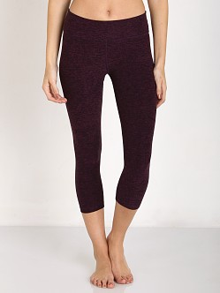 Beyond Yoga Space Dye Capri Legging Black/Imperial Violet