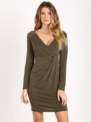 Model in green The Jetset Diaries Kendall Dress