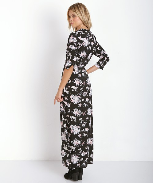 Stillwater The 3/4 Sleeve Button Front Maxi Charlotte