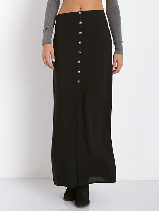 Stillwater The Button Front Maxi Skirt Black