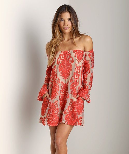 For Love & Lemons Precioso Dress Red
