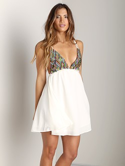 For Love & Lemons San Pedro Mini Dress White