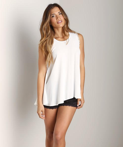 For Love & Lemons Lovely Tank White