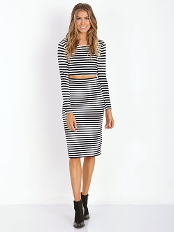 Lovers + Friends Say It Isn't So Crop Stripe