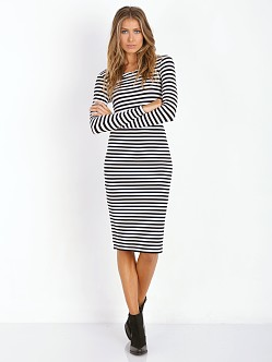 Lovers + Friends Day to Night Pencil Skirt Stripe