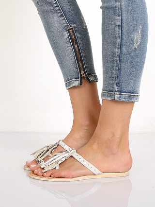 Cocobelle L Space Fringe Sandal Natural