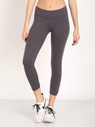 Beyond Yoga Back Gathered Capri Legging Steel
