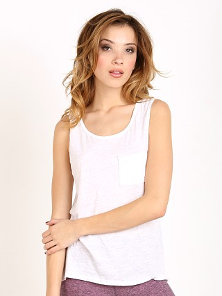 Beyond Yoga Fine Slub Muscle Tee White