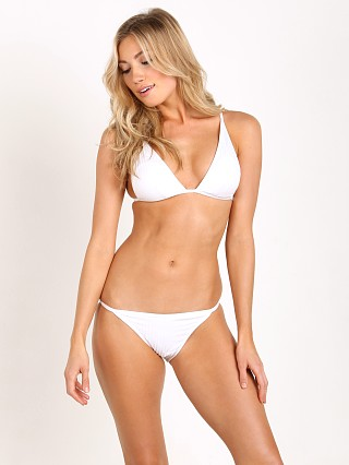 Zimmermann Belle High Tri Bikini Set White