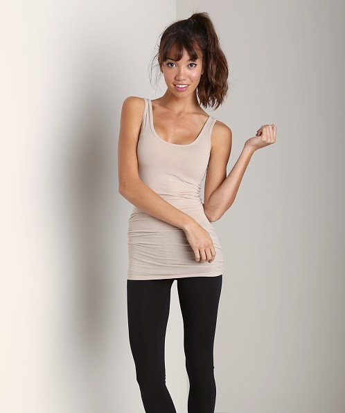 Splendid Layers Long Tank Almond