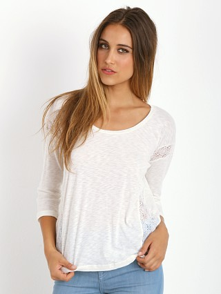 Splendid Laced And Slub Long Sleeve Sand Dollar