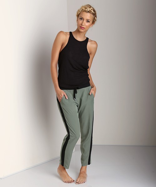 Splendid Athens Colorblock Pants Camo Green