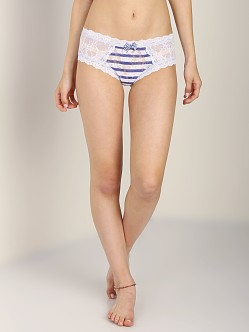 Hanky Panky Sailor Stripe Cheeky Hipster White Blue