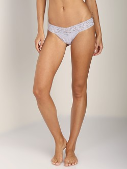 Hanky Panky Cotton Low Rise Thong Mystic Grey
