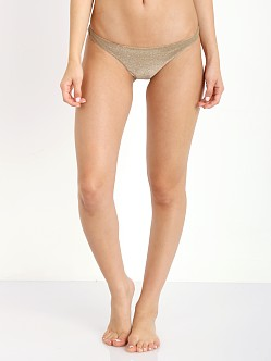 Vitamin A Samba Ruched Back Bottom Bronze Metallic