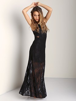 Nightcap Marigold Cutout Maxi Black