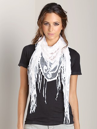 Nightcap Italian Knit Scarf White
