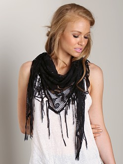 Nightcap Italian Knit Scarf Black