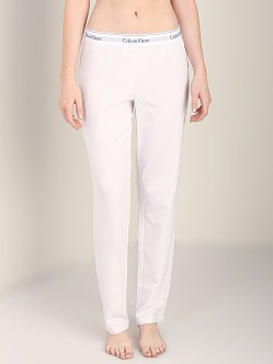 Calvin Klein Modern Cotton Straight Leg Pant White