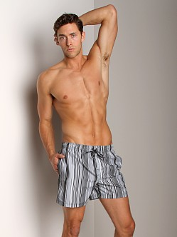 Calvin Klein Voltage Stripe Swim Boxer Black