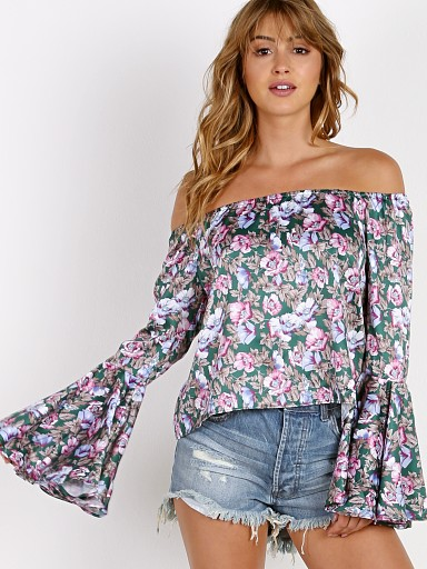 Roe + May Mila Top Peony Floral