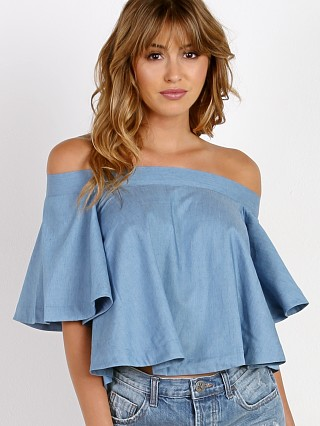 Roe + May Iris Top Chambray