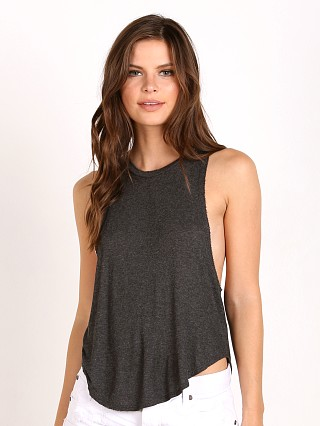 Joah Brown Lazy Day Tank Charcoal Rib