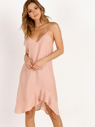 LACAUSA Ruffle Slip Dress Rosewood