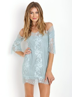 For Love & Lemons Belle Mini Dress Sage