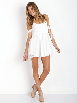 For Love & Lemons Kiss Me Dress White Dot