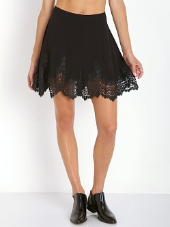 For Love & Lemons Gilly Girl Mini Skirt Black