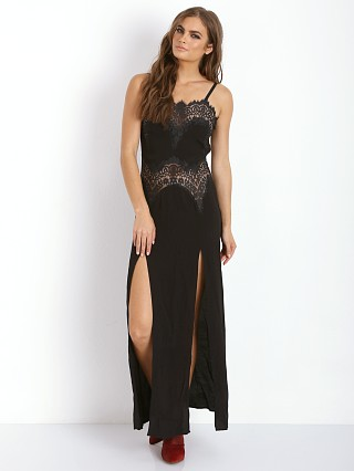 For Love & Lemons Bourbon Lace Maxi Black