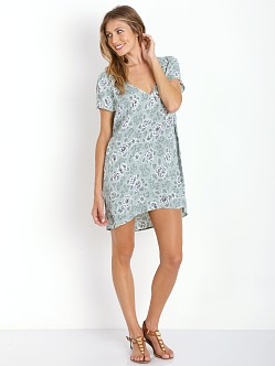 For Love & Lemons Wyoming T-Shirt Dress Mint Rose