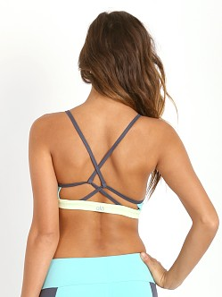 alo yoga Westerly Bra Pool Blue