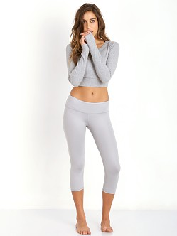 alo yoga Palm Long Sleeve Top Steel Heather