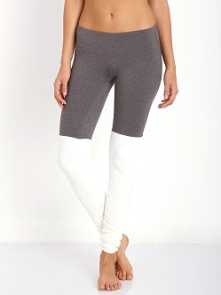 alo yoga Goddess Ribbed Legging Stormy/Natural