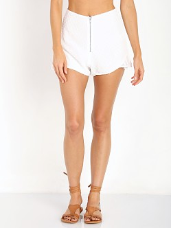 For Love & Lemons California Pearl Shorts White