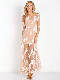 For Love & Lemons Orchid Maxi Dress White/Nude