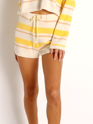 Model in sunshine stripe L Space Sun Seeker Short
