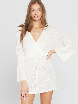 Model in white L Space Topanga Dress