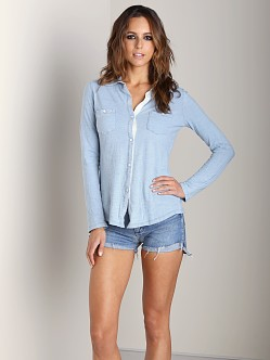Splendid Knit Shirt Light Wash